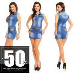 Jean Dress With Belt