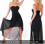 Sexy Dress Chiffon Black