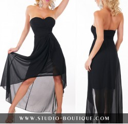 Sexy Dress Chiffon Black