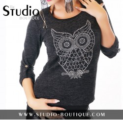 Italian Tunic Shirt Black