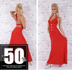 Maxi Long Dress Red