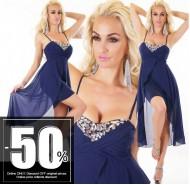 Sexy Dress Chiffon Blue