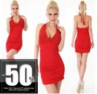 Ιταλικό μίνι μοντέρνο κόκκινο φόρεμα με στράς στο στήθος και ανοικτή πλάτη