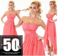 Sexy Dress Chiffon Coral