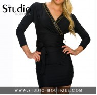 Italian Mini Dress Black