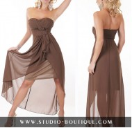 Sexy Dress Chiffon Brown