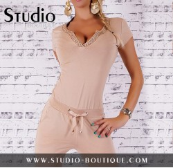 Overall Jumpsuit Beige