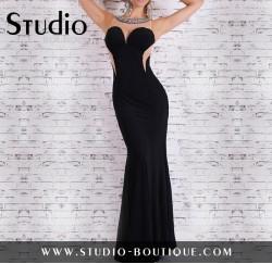 Sexy Glamour Evening Dress Black